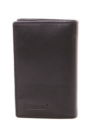 Three-winged leather wallet