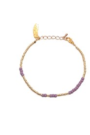 ANNA ANKLET - purple gold