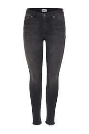 Skinny fit jeans Blush mid ankle raw