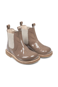 Chelsea boots with hole pattern