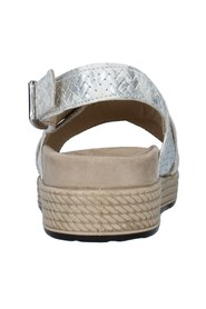 Sandals With wedge Woman WHITE