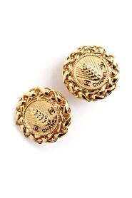 Chanel oversized CC earrings