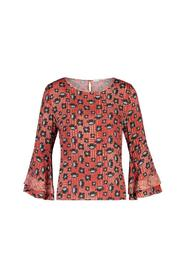 Rood all over geprinte dames blouse Aaiko - Marda