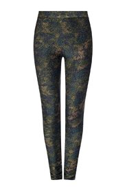 Leggings with metallic fiber