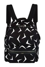 Käytetty Boomerang Printed Canvas Backpack