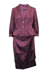Silk Blazer and Skirt Set