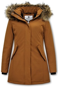 Winter Coat with Real Fur Collar
