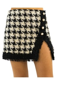 Bouclé skirt and inserts