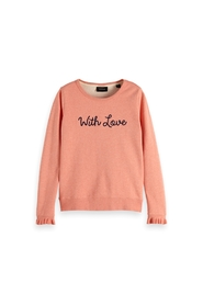 Crew neck sweat with special cuff 148610