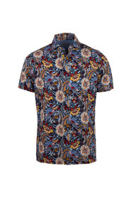 Tryckt Flower Polo