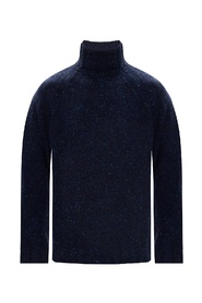 Embroidered turtleneck sweater