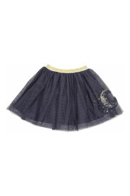 Stretch skirt with decoration