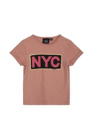 Petit by Sofie Schnoor - Baby T-shirt SS, NYC - Dusty Rose