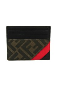 pre-owned 7M0164 Leather Coated Canvas Card Case