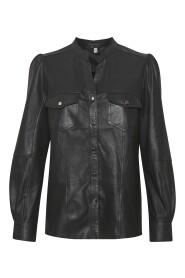 Alina Leather Shirt