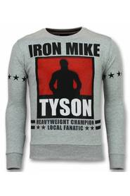 Mike Tyson Pullover Iron Mike Herre Sweater Sweaters Mænd