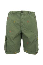 cargo shorts with embroidered palm trees