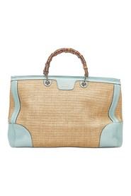 Bamboo Shopper Straw Satchel