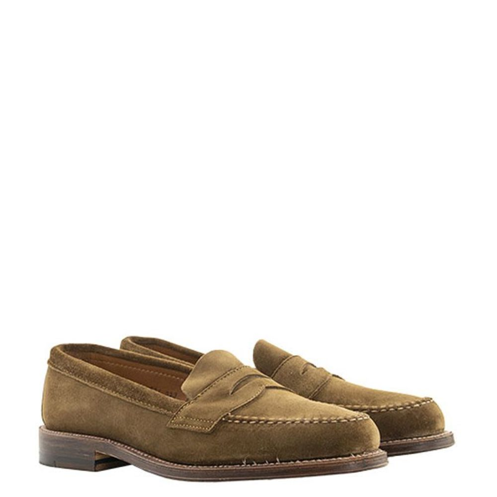 Brown Tan Suede Loafers | Alden | Loafers | Men's shoes