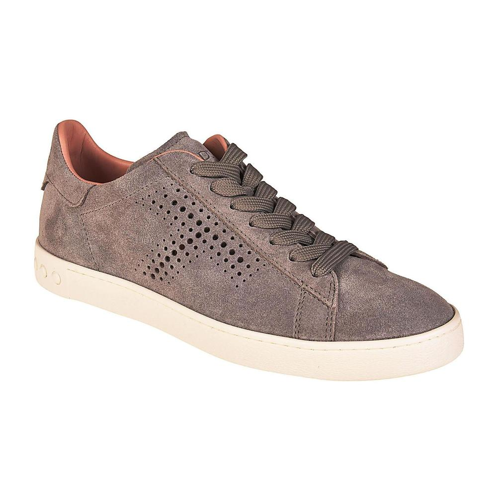 Tod's Grey Drilled T suede sneakers Tod's