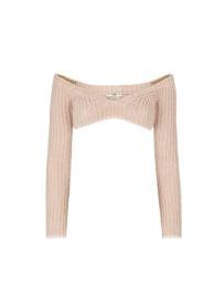 Crop Knit Sweater in Nude