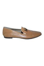 Vincennes Light Brown Leather Mules