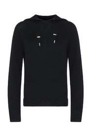 PAPEL hooded sweater Black