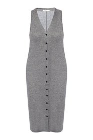 Dress with decorative buttons