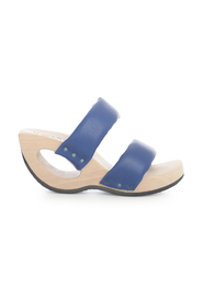 OPEN TOE SANDAL DOUBLE STRAP AND HOLED HEEL