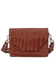 Unlimit - Rosemary Shoulderbag 299696 - Brown Kroko