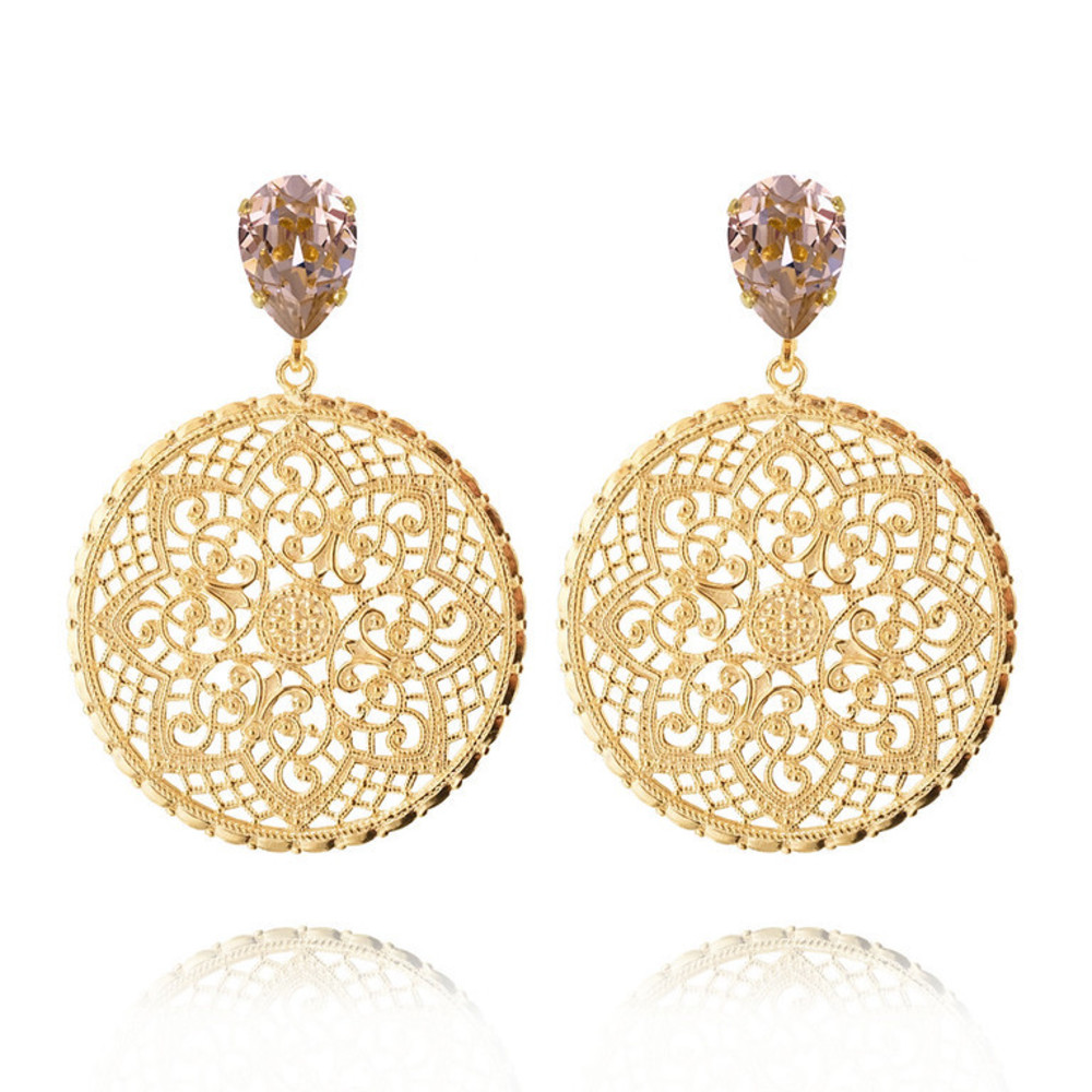 Caroline Svedbom Alexandra Earrings gold vintage rose