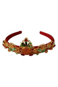 Lace Crystal Pineapple Floral Diadem