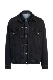Jeansjacke mit doppelter Knopfleiste