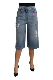 Wide Leg Cropped Mid Waist Jeans