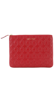 Pochette wallet in red cow leather