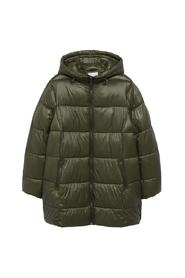 Hood quilted jacket