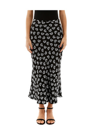 Floral-printed kelly skirt