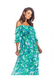 Sukienka maxi z odkrytymi ramionami A311