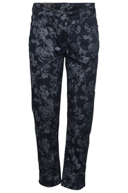 Laurie patterned stretch pants blue