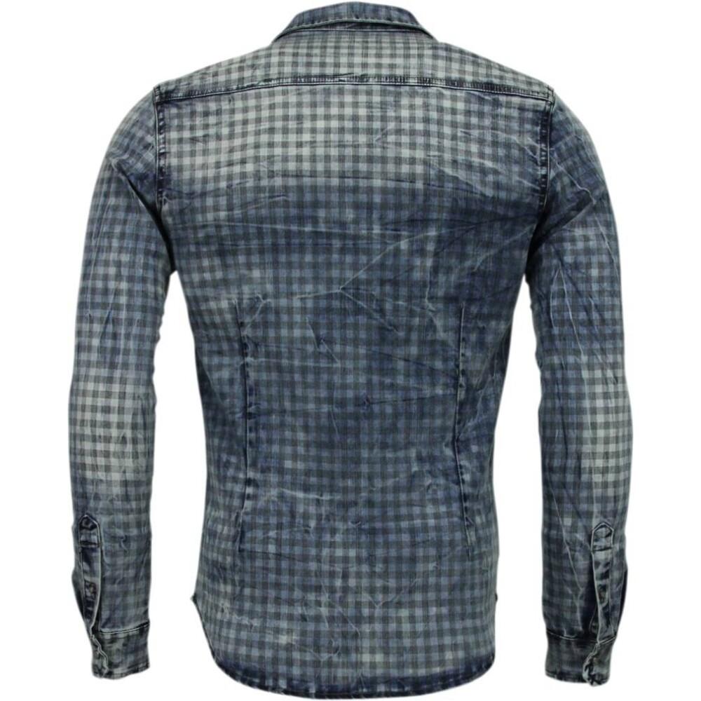 Blue Denim Overhemd | Enos | Spijkeroverhemden | Herenkleding