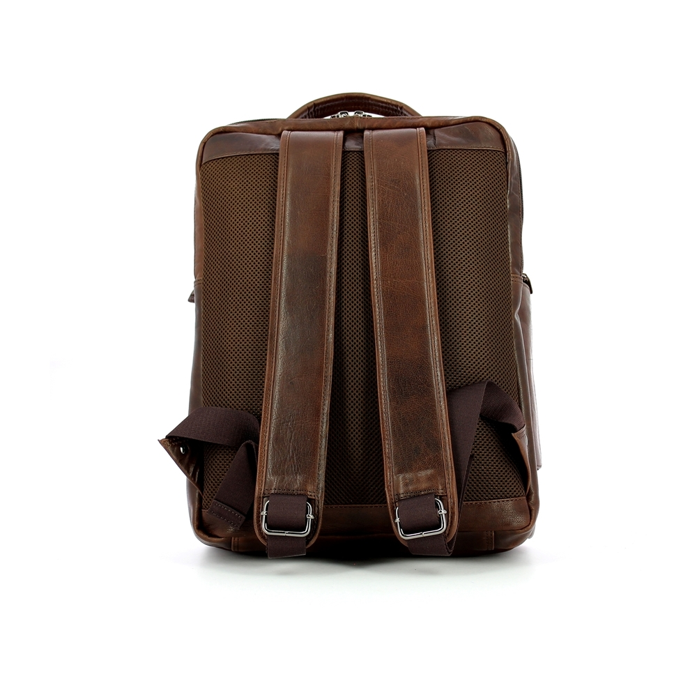 Brown Large leather backpack | Aeronautica Militare | Rugzakken | Herentassen
