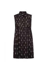Patterned sleeveless dress