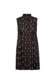 Mønstrede ærmeløs kjole