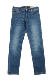 Jeans in denim used a 5 tasche