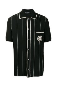 Striped polo shirt with logo