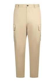 straight-leg cargo trousers