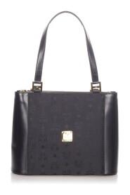 Pre-owned Black Visetos Leather Shoulder Bag