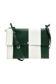 Striped envelope clutch bag