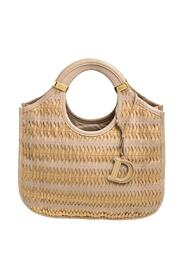 Pre-owned Leather Contrast Twist Hobo