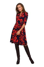 Sukienka Kopertowa Z Wiązaniem